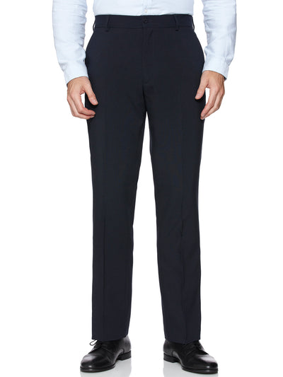 MARL PANAMA WEAVE TROUSERS IN NAVY