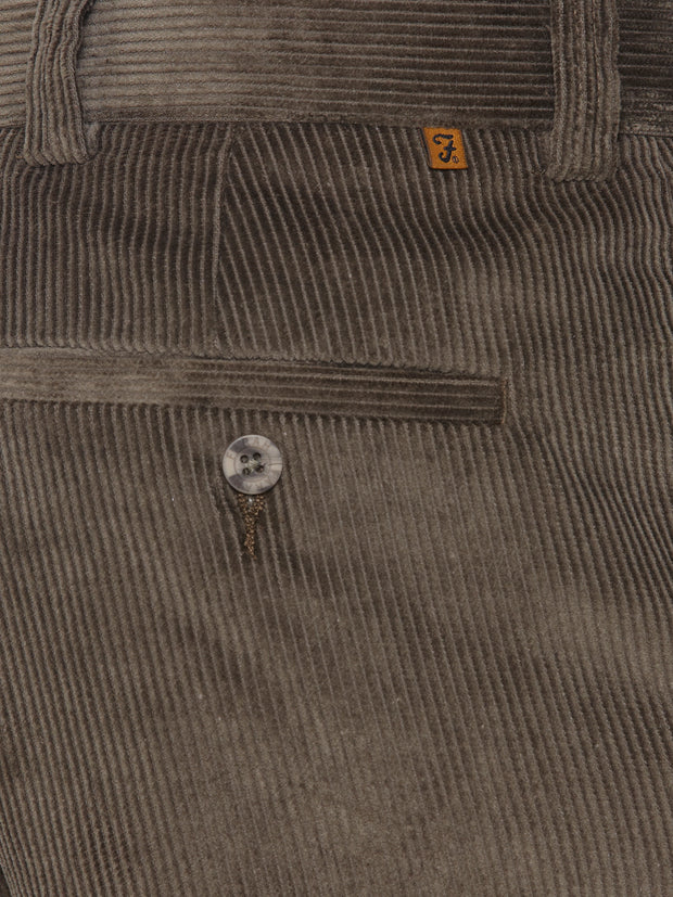 HUGHES CENTRE CREASE TROUSERS IN DARK OLIVE