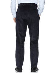 HUGHES CENTRE CREASE TROUSERS IN DARK NAVY