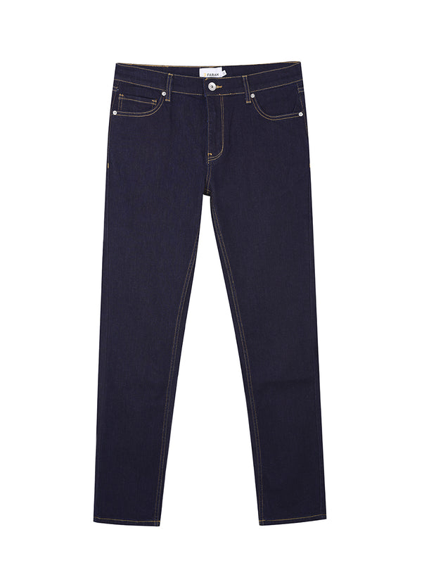 Drake Slim Fit Stretch Jeans In Rinse Denim