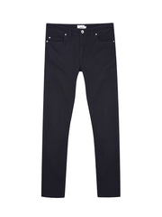 Drake Slim Fit Cotton Twill Trousers In Black
