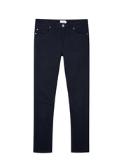 Drake Slim Fit Cotton Twill Trousers In True Navy