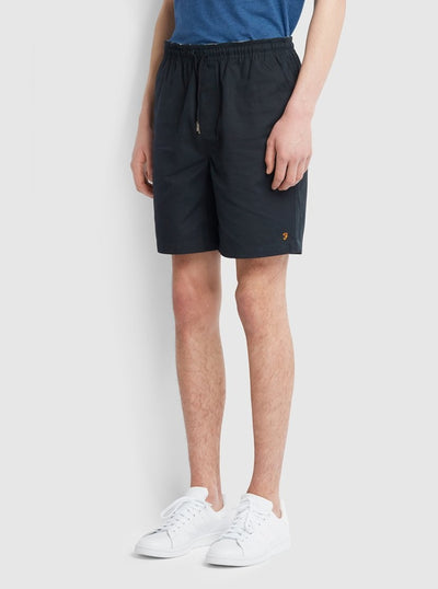 Trehurst Hopsack Drawstring Shorts In True Navy