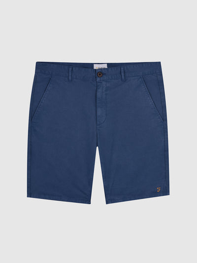 Hawk Dyed Twill Chino Shorts In Blue Grape