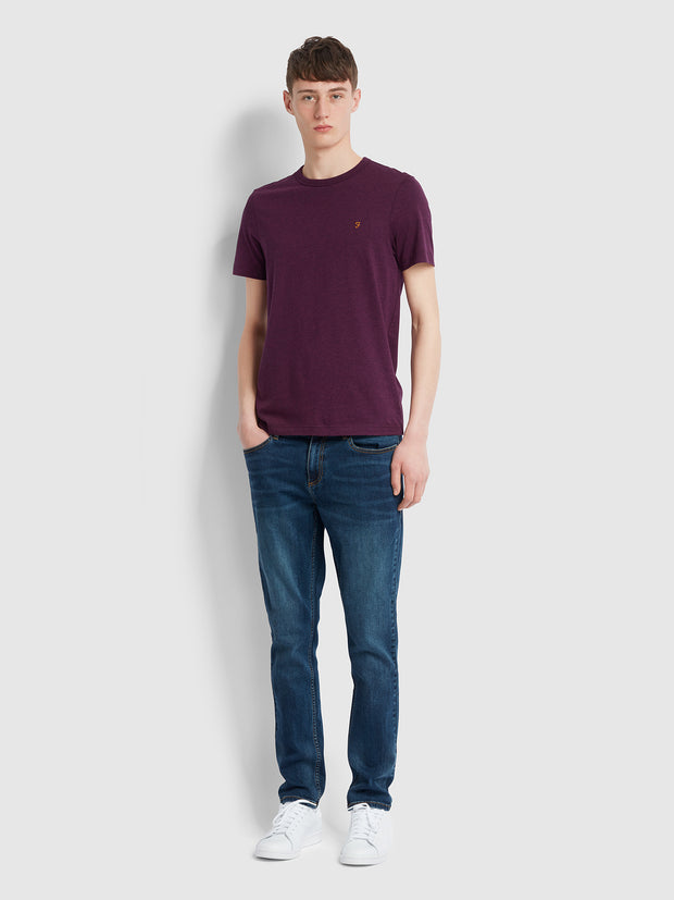 Dennis Slim Fit T-Shirt In Hippie Purple Marl