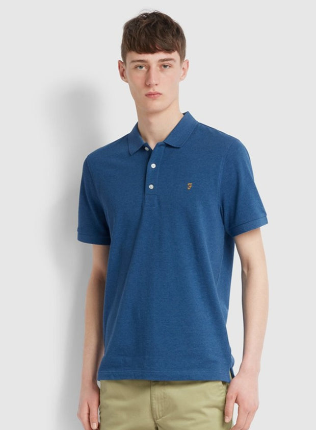 Blanes Slim Fit Polo Shirt In Blue Grape Marl