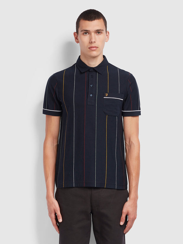 Barras Slim Fit Polo Shirt In True Navy