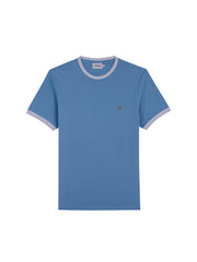 Groves Slim Fit Ringer T-Shirt In Moonstone