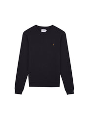 Tim Cotton Crew Neck Sweatshirt In Black Marl