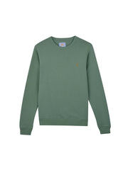 Tim 100 Cotton Crew Neck Sweatshirt In Jade Green