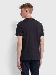 Danny Slim Fit Organic Cotton T-Shirt In Black Marl
