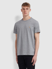 Danny Slim Fit Organic Cotton T-Shirt In Gravel Marl