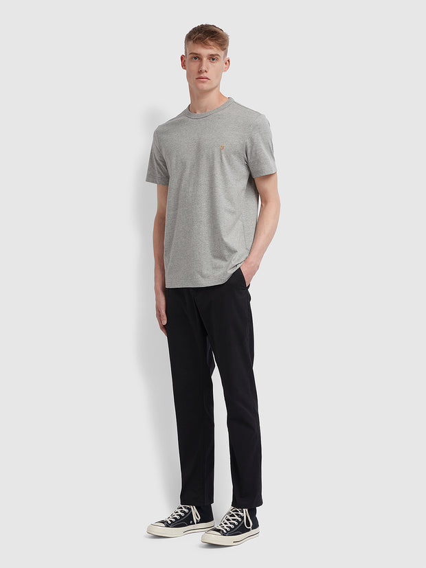 Danny Slim Fit Organic Cotton T-Shirt In Rain Heather