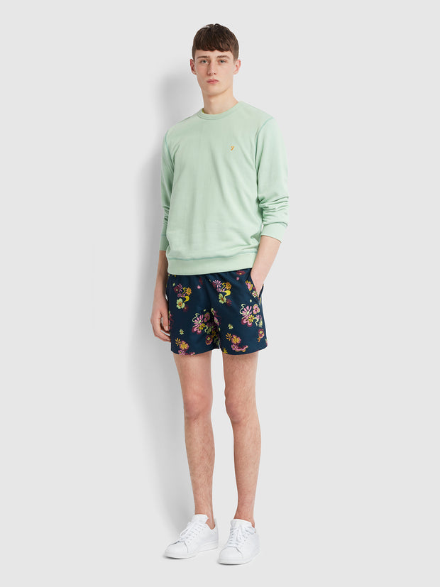 Colbert Floral Print Swim Shorts In Yale