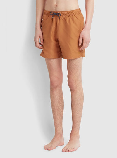 Colbert Swim Shorts In Moroccan Orange
