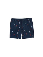 Colbert Diamond Print Swim Shorts In Farah Teal