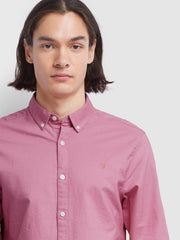 BREWER SLIM FIT OXFORD SHIRT IN DUSTY ROSE