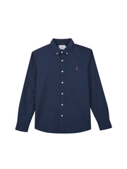 BREWER 100 SLIM FIT OXFORD SHIRT IN FARAH TEAL