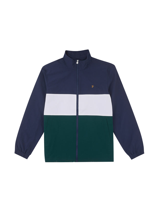 Amir Panelled Jacket In Leaf Green