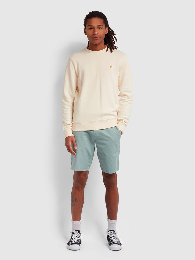 Hawk Dyed Twill Chino Shorts In Green Mist