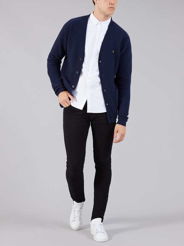 Eindhoven Wool Blend Cardigan In True Navy