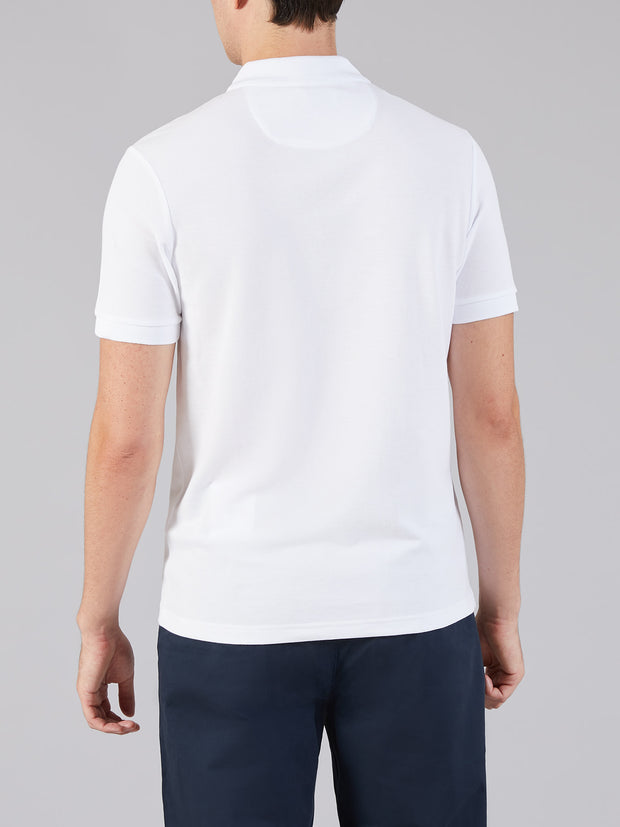 Blaney Slim Fit Polo Shirt In White