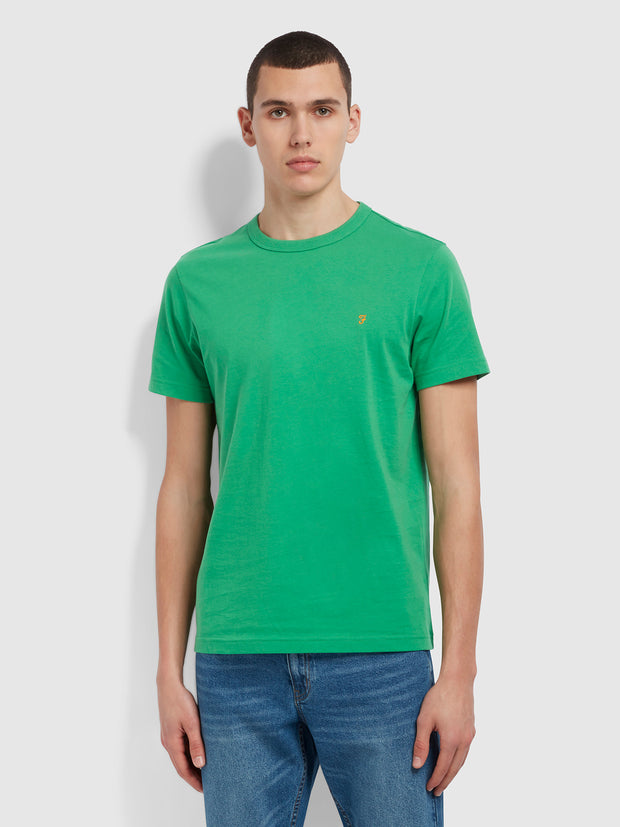 Danny Slim Fit Organic Cotton T-Shirt In Farah Fresh Green