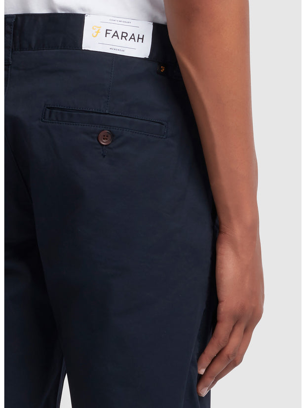 Hawk Twill Chino Shorts In True Navy