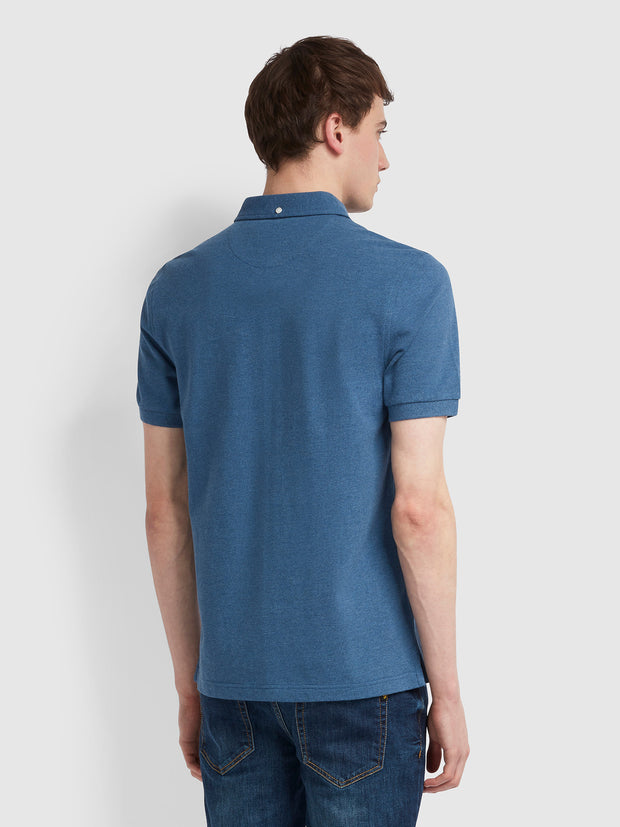 Ricky Slim Fit Polo Shirt In Dusky Blue Marl