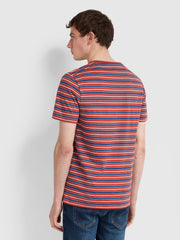 Mansour Slim Fit Striped T-Shirt In Russet