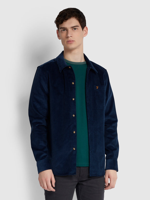 Neukoln Casual Fit Cord Shirt In Yale