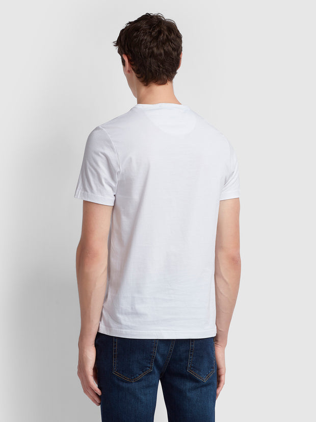 DENNIS SLIM FIT T-SHIRT IN WHITE