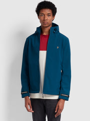 LEYLAND ZIP THRU HOODED JACKET IN MIDNIGHT BLUE