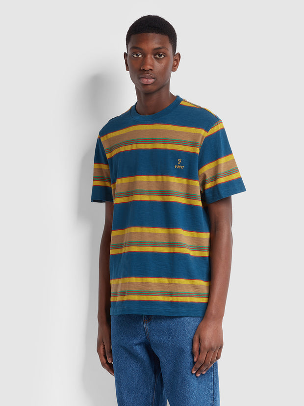 Farah X YMC Alexis T-Shirt In Sailor Blue
