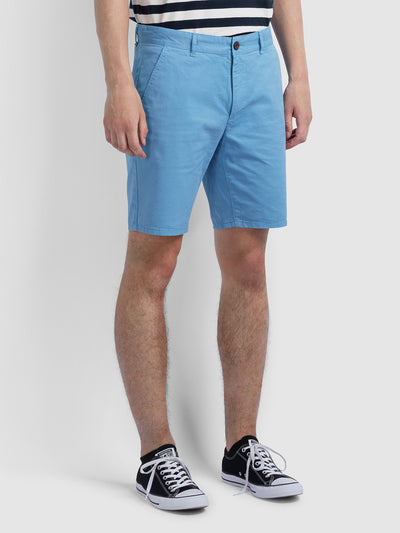Hawk Dyed Twill Chino Shorts In Moonstone