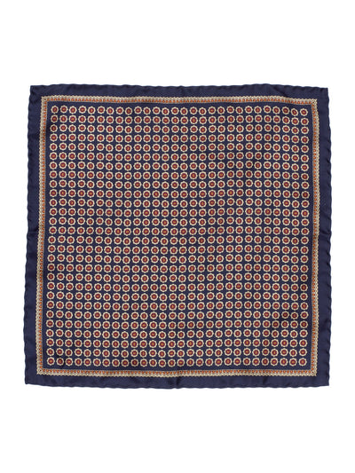 SILK POCKET SQUARE IN BROWN