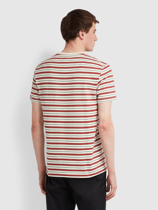 Mansour Slim Fit Striped T-Shirt In Cream