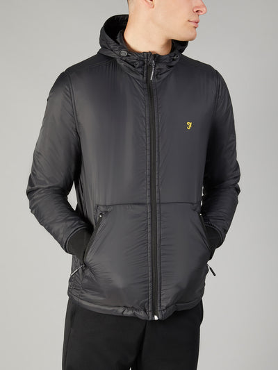 FARAH SPORT BUSBY JACKET IN DEEP BLACK