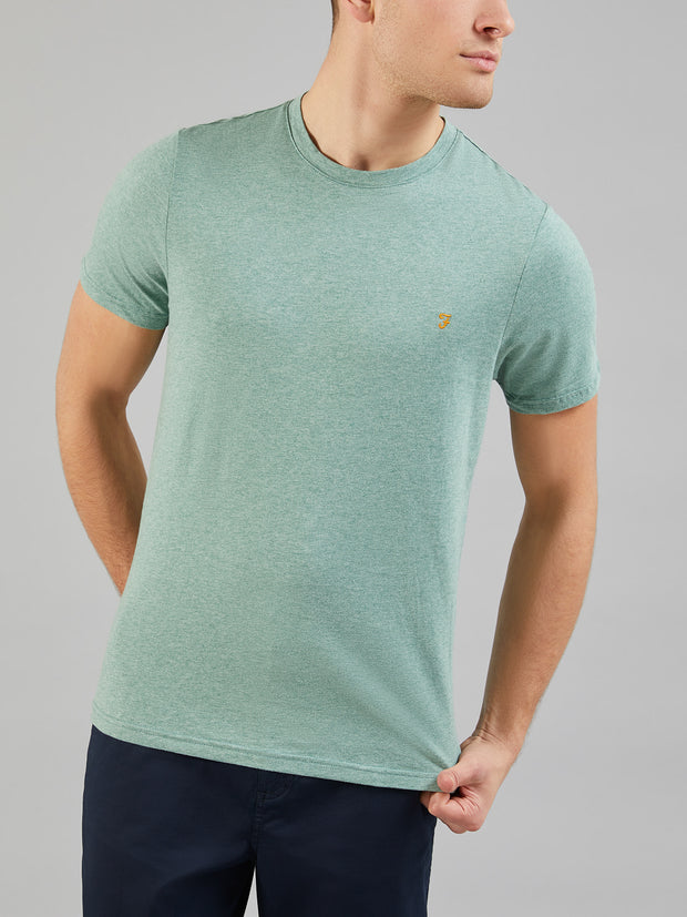 DENNY SLIM FIT MARL T-SHIRT IN CLAY MARL