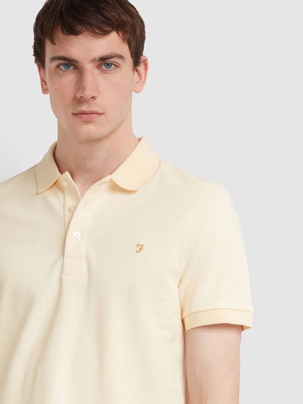 BLANES SLIM FIT POLO SHIRT IN FARAH YELLOW