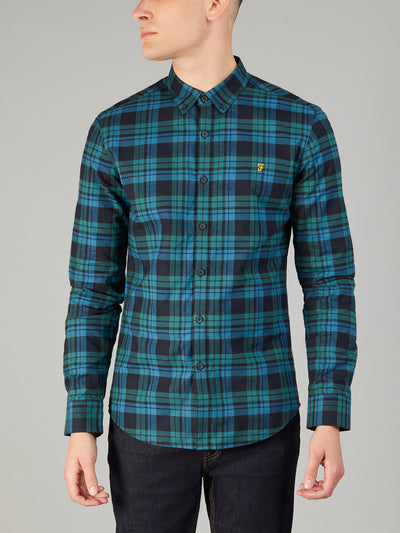 Radley Slim Fit Check Shirt In Ocean