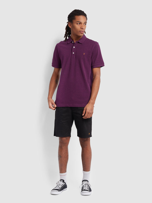Blanes Slim Fit Polo Shirt In Hippie Purple Marl