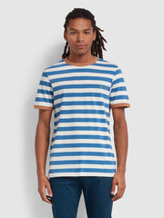 Belgrove Slim Fit Striped T-Shirt In Blue Grape