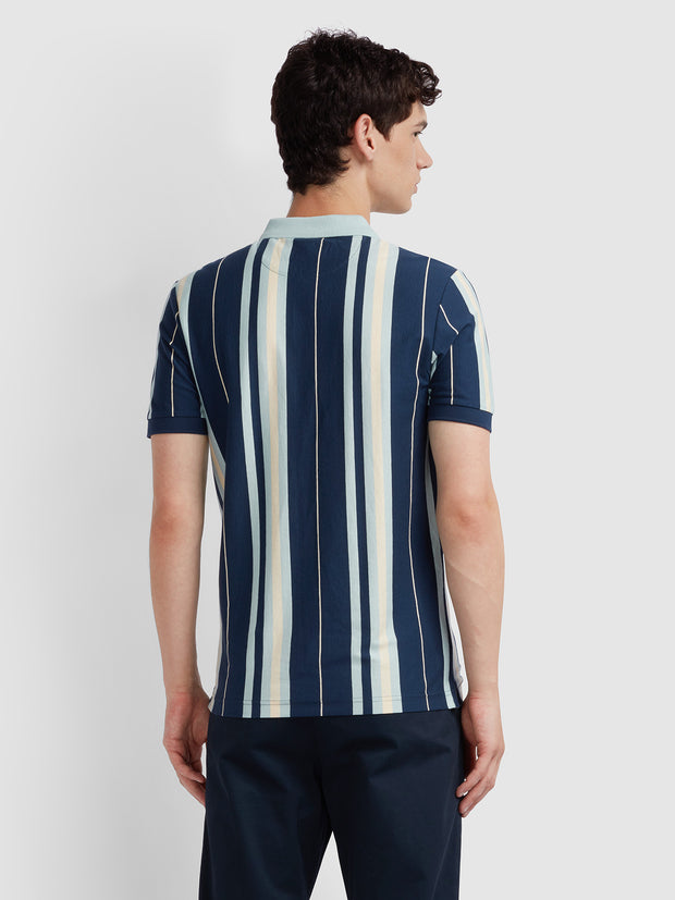 Wigwam Slim Fit Striped Polo Shirt In Yale