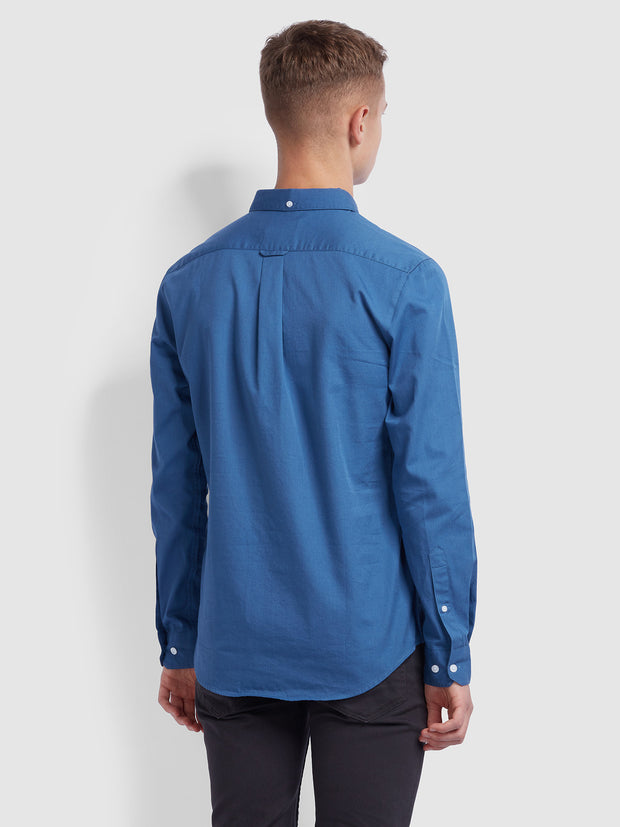 BAKER SLIM FIT OXFORD SHIRT IN MID BLUE