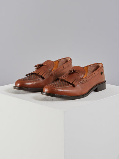 Chapel Leather Shoe In Chestnut