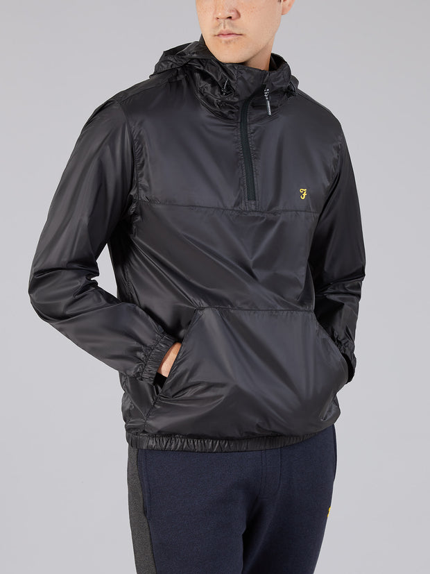 Linwood Quarter Zip Jacket In Deep Black
