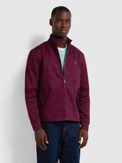 HARDY 100 HARRINGTON JACKET IN FARAH RASPBERRY