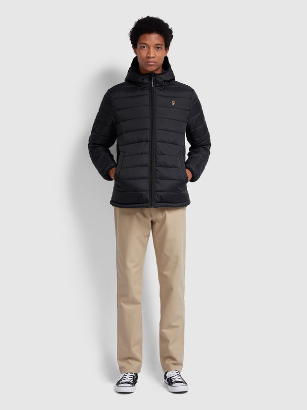 BOURNEMOUTH PUFFA JACKET IN DEEP BLACK