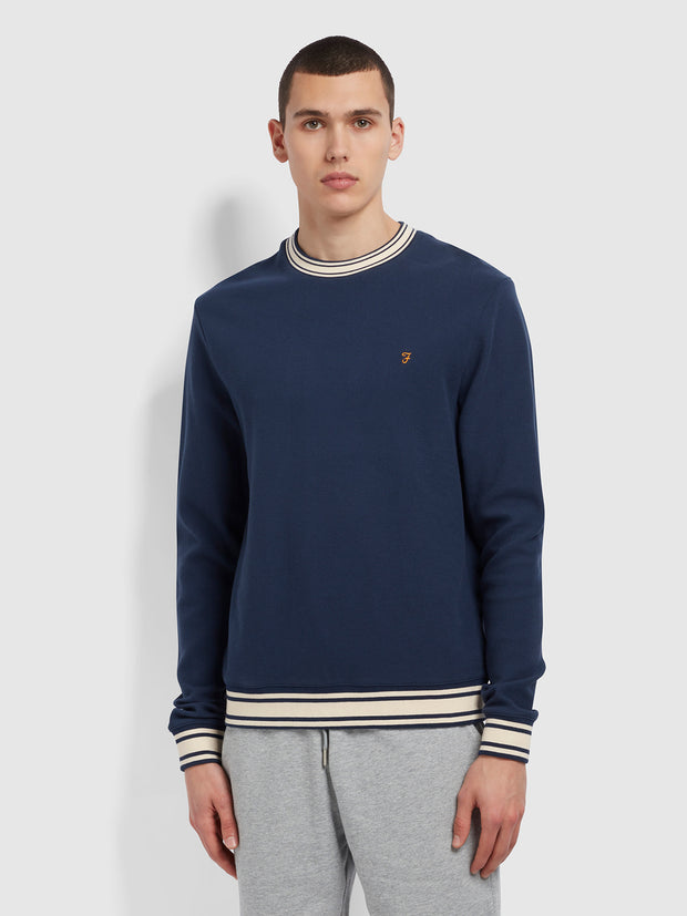 Los Angeles Organic Cotton Crew Neck Sweatshirt In Yale
